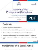 Herramienta Web Presupuesto Ciudadano