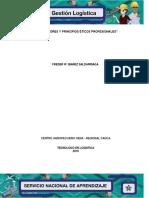 """Ficha """"Valores y Principios Éticos Profesionales"""""""