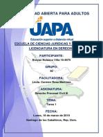 Tarea 1 Derecho Procesal Civil III 18-03-2019