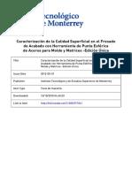 Caracterización de la Calidad Superficial en el Fresado de acabado con herramienta de punta esférica.pdf