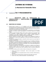 Requisitos Anteproyecto MIVIOT Panama