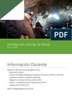 Introducción a la Ingeniería de Minas