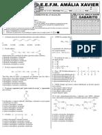 Avaliação de Química 3º Ano - Introdução Química Orgânica t3