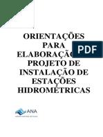 Orientações para elaboração de projetos de instalação de estações hidrometricas