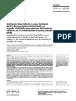 Análisis del desarrollo de la curva del olvido dentro de un programa de formación en Soporte Vital Básico para alumnos del Grado de Medicina de la Universidad de Granada. Estudio piloto.