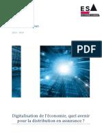 Memoire Manager Assurance ESA Digitalisation de l Economie Quel Avenir Pour La Distribution en Assurance Maximilien Brami 2013 2014