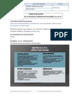 Apps for Good-Actividad STEM Analizada Mediante Matriz DAFO