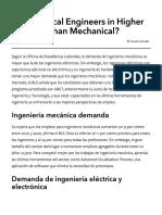 Electrical Engineers Higher Demand Mechanical
