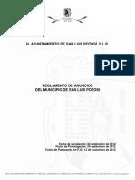 Reglamento de Alumbrado Público Del Municipio de Slp