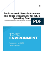 Environment_ Sample Answers and Topic Vocabulary for IELTS Speaking Exam – TheTestTaker