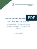 2019.04.17 Del Monetarismo Extremo a Los Controles de Precios CEPA