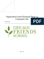 Organization Action Research Paper on Community Site