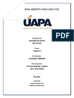 Unidad 4 base de datos uapa