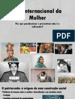 Dia Internacional Da Mulher Apresentação