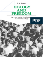S. Barnett - Biology and Freedom an Essay on the Implications of Human Ethology.