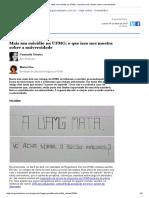 Teixeira; Eliza_mais Um Suicídio Na Ufmg
