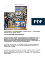 Como Poner Una Tienda de Artículos Electrónicos - Guía de Negocio