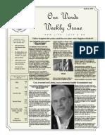 Newsletter Volume 10 Issue 14