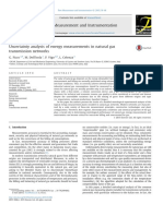 uncertainty analysis of energy measurement in natural gas trasnmission networks