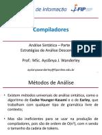 Compiladores Aula05 AnáliseSintáticaII-TopDown