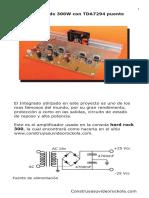 amplificador de audio 300W
