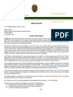 Campus Safety Report Response