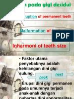 kelainan erupsi gigi desidui