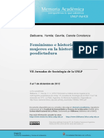 Feminismo e historia de las mujeres en la historiografía posdictadura