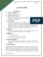 Informe de Ley de OHM