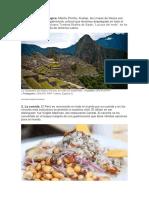 Peru Un Pai Lleno de Maravillas