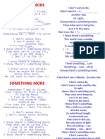 SOMETHING MORE - Song activtity.ppt