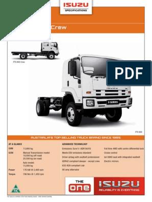 ISUZU-FTS-800-4X4-SPECS pdf | Manual Transmission