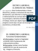 El Derecho Laboral...