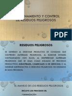 Almacenamiento y Control de Residuos Peligrosos