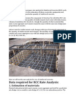 Rate Analyses for Concrete
