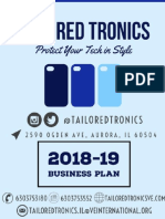 tailored tronics business plan 2018-2019