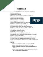 Module 3 Architecture and Design
