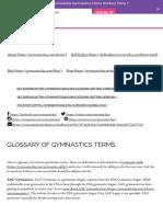 gymnastics terms glossary