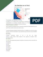 Yacimientos de Petróleo en El Perú
