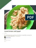Ayam Kremes Anti Gagal