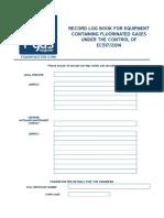 Fgasregister Log Book