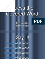 Covered words