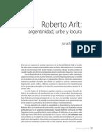 Jonathan Rojas - Roberto Arlt