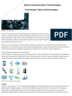 Wireless Communication Technologies