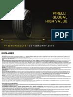 4603 Pirelli FY 2018 Results Presentation