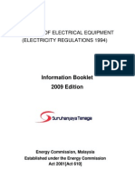 Approval of Electrical Equipment (Info Booklet 2009)