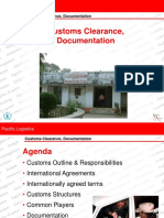1. Pacific Customs Clearance and Documentation