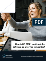 How is ISO 27001 Applicable for Software as a Service Companies En