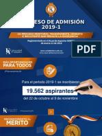 admisiones 2019-1 instructivo UA