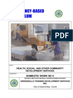 CBC TEMPLATE - Domestic Work NC II
